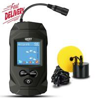 Lucky Portable Fish Finders Wired Transducer Kayak Fish Finder Kit Portable Dept