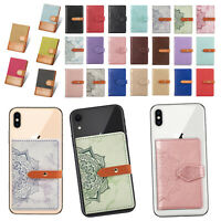 Universal Stick On Wallet Credit ID Card Holders Case Adhesive Cell Phone Pocket $6.98