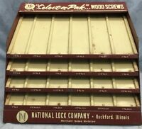 Vtg 50s Hardware Store Countertop~ Metal ~Screw Display Rack sign