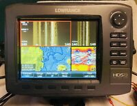 Used Lowrance HDS 8 Gen 2 Insight USA Fishfinder GPS with Transducer.