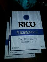 NEW 3x Rico Reserve Boxes of Reeds for Clarinet #3.5 Lot