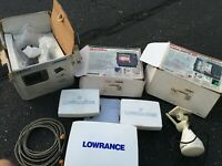 Lot of 3 Lowrance Fish Finders - HDS 8, X510c, & LMS-337c DF - Tested & Working