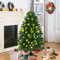 4Ft Pre-Lit Artificial Christmas Tree Charlie Pine w/ Stand & Led Lights Green