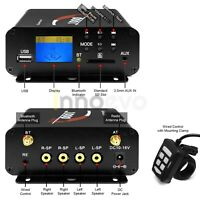 1000W Amp Motorcycle ATV UTV RZR Bluetooth Audio Stereo Radio System Amplifier