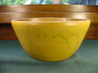 Vintage American Art Pottery Bowl Impressed Suey Sang Co Advertisement