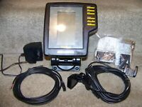 HUMMINBIRD TCR 101 FISH FINDER UNUSED W/MOUNT, CABLES, 110V ADAPTER, TRANSDUCER