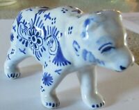 Rare Antique Tin Glazed Delft Bear Signed French ? Dutch ? English ?
