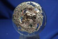Antique End of day With Sulphide Center Paperweight 1870s French or New England