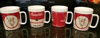 Vintage 1991 Campbell's Soup Plastic Insulated Cups Mugs Campbell Kids - Set 4