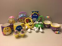 2001 Mars M&M Spring Lot Of 11. Spring and Easter Tins, Mugs, Purses.
