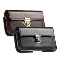 Horizontal Leather Case Cover Pouch Holster For iPhone Samsung LG Universal $11.99