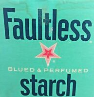 1974 Faultless Starch Box Unopened RARE Blued and Perfumed 12oz
