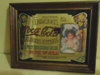 Vintage Coca Cola Sign Wall Hanging Mirrored 13-3/4