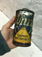 Antique Whiz Graphite Penetrating Oil Can  Vintage Whiz Oil 16oz