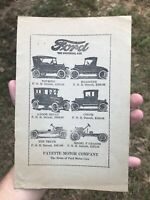 Antique early FAYETTE MOTOR CO Fayette & Tuscaloosa, Alabama FORD advertising