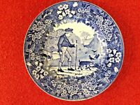 Wedgwood C1900 Blue Transferware MONTHS OF THE YEAR Series Plate for October EXC