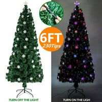 6FT 700Tips Pre Lit Christmas Tree W/Stand Xmas Decoration & 300 LED Multi Color