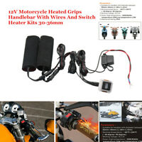 12V Motorcycle ATV Heated Grips Handlebar W Wires And Switch Heater Warmer Kit