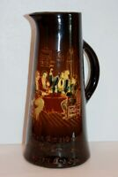 Antique Weller Pottery Dickens Ware Dombey and Son Tankard Pitcher - Rare!
