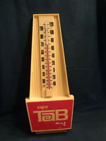 Vintage Enjoy TAB Thermometer-Soda Advertising-Art Decco Style-1960's