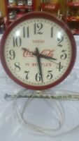 ORIG. GILBERT COCA COLA CLOCK (DRINK COCA COLA IN BOTTLES) MADE IN WINSTED,CONN
