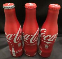 3 Different Coca-Cola aluminium bottles Spain 125 Years/ 100 Years of the bottle