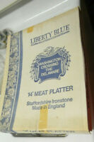 liberty blue 14 INCH MEAT PLATTER, never used, mint in orig. box