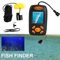 Portable Fish Finder Echo Sonar Alarm Sensor Transducer Fishfinder Anti-UV LCD