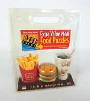 Vtg NEW McDonalds Extra Value Happy Meal Food Puzzles MB Sales Store Owner Promo