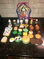 McDonald's Play Food 34 Piece Set w/ Backpack Looks New RARE With This Backpaxk!