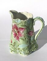 ANTIQUE SIGNED NIPPON MORIAGE FLORAL CREAMER PITCHER