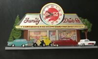 Vintage Coca Cola Family Drive In Diner Wall Clock 2899 Coke 1988 1980s USA Used