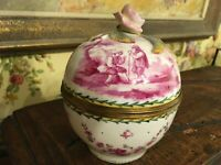 French Porcelain Lidded Bowl Hand Painted Signed Tournay Lille France 18th C