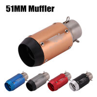 38-51MM Universal Short Exhaust Pipe Stainless Steel Muffler For Motorcycle ATV
