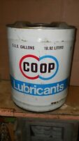 Vintage Co Op 5 Gallon Oil Can Nice Can