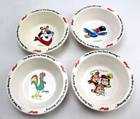 Vintage Kelloggs Cereal Bowl Set Froot Loops Rice Krispies Corn Flakes Frosted