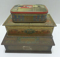 Vintage Norris Sharps Whitmans Candy Toffee Chocolates Tins Lot Of 3 Advertising