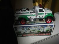 Exclusive Hess 2011 Toy Truck and Race Car New in Box + Bonus Gasoline Truck