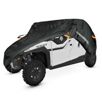 2 Row Seats ATV Utility Vehicle Cover Waterproof Fits For Polaris General 4 1000