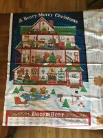 A Beary Merry Christmas Advent Calendar - Brand New - Unfinished