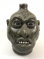 """Lanier Meaders 10"""" Ugly Face JugSouthern Face Pottery"""