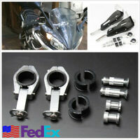 Black Hand Guard Handguards For Motorcycle Dirt Bike ATV w/Fitting Accessories