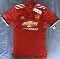Adidas Manchester United ON THE PITCH Soccer Jersey Mens Size: Small