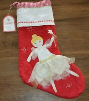 Pottery Barn Kids Blonde Hair Fairy Quilted NO MONOGRAM Christmas Stocking NEW!