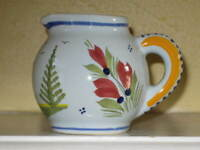 HB HenRiot Quimper French Faience Miniature CREAMER Individual Cream Pitcher