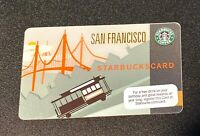 Starbucks Gift Card San Francisco Cable Car RARE 2009 - NEW Never used/swiped