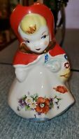 Hull Pottery Little Red Riding Hood Creamer Pitcher 1940's Nice Marked