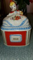 Vintage Hull Pottery Original Little Red Riding Hood Large Sugar Canister 1940s