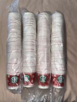 200 Starbucks OLD LOGO Disposable Holiday Paper Cups 3.5 oz Sample Size Sealed