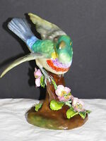 Vtg Crown Staffordshire Bone China Hummingbird Bird Figurine JT Jones England